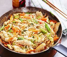 Pad Thai | Recept ICA.se Baby Food Recipes, Indian Food Recipes, Asian Recipes, Meat Recipes, Vegetarian Recipes, Chicken Recipes, Food Inspiration, Love Food, Food And Drink