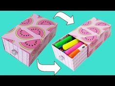 DIY| Estojo Gaveta Sem Cola Feito Com Caixa de Tinta - YouTube