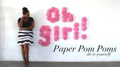 {You're Invited} DIY Pom Poms for Oh Joy!'s Digital Baby Shower