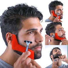 $1.39 - Beard Shaping Tool Styling Template Shaper Comb Trim Facial Haircare Barber #ebay #Fashion