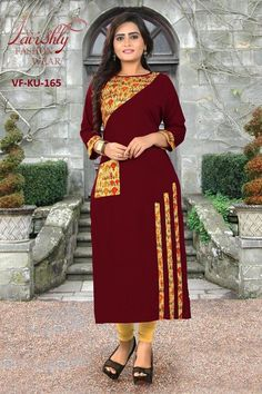 This lovely designer Gowns are made up of Rayon fabric. We are the leading manufacture of these designer Kurtis and these are traditional Jaipuri kurtis as we know.