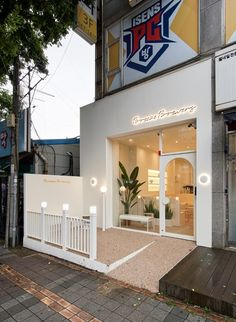 Cafe Shop Design, Coffee Shop Interior Design, Salon Interior Design, Bakery Design, Restaurant Interior Design, Shop Front Design, Cafe Exterior, Cafe Concept, Shop Interiors