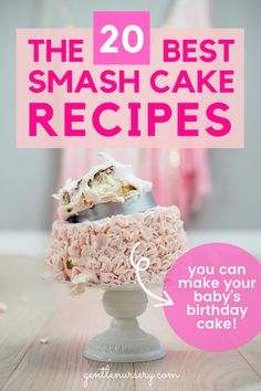 Have you been searching for the best smash cake recipes for your baby's 1st birthday? I have included my FAVORITE 20  smash cake recipes that even your baby will love! Learn how to make your own smash cake and have the satisfaction of making it yourself. Also learn the 8 ingredients to avoid if you choose to buy a store bought cake. Head over to the blog to find smash cake boy and smash cake girl ideas! Smash Cake Recipes, Smash Recipe, Baby Food Recipes, Baby Led Weaning First Foods, Baby First Foods, Healthy Baby Food, Healthy Cake, Baby Cake Smash, Baby Birthday Cakes