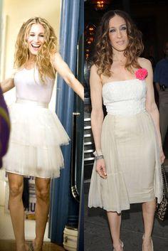 Tutú de bailarina El mítico vestido con tutú de Carrie lo luce muy parecido Sarah Jessica en la vida real.