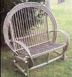 Rustic Willow Bench (DutchCrafters.com) $350