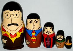 "Russian Legacy ""Beatles: Yellow Submarine"" Matrioshka"