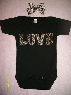 Baby onesie, baby shower gift, baby girl, hair bows at Sassy Girl Accessories.  https://www.facebook.com/SassyGirlAccessories