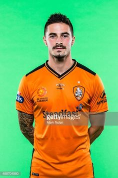 Jamie Maclaren poses during the Brisbane Roar A-League headshots session at Fox Sports Studios on September 17, 2015 in Sydney, Australia.
