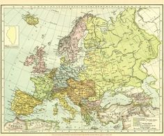 'Vintage Map of Europe Poster by BravuraMedia Canvas Prints, Framed Prints, Art Prints, Central And Eastern Europe, Vintage Maps, Sell Your Art, Decorative Throw Pillows, History, Poster