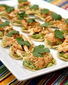 Chipotle Chicken Tostada Bites #glutenfree