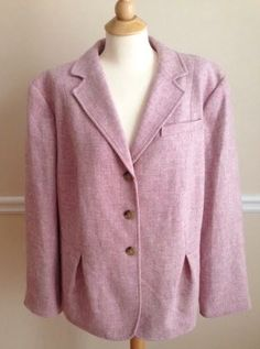 Talbots Woman wool blazer 22W pink lined NWT $179 Easter spring pastel #Talbots #BasicJacket