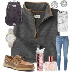 A fashion look from October 2016 featuring Patagonia t-shirts, Frame jeans and Sperry shoes. Browse and shop related looks.