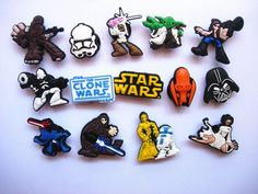 HLXY Shoe Charms 100 Pcs Different Shape for Jibbitz Croc Shoes & Backpack & Bracelet Wristband Gifts Toy Croc Charms, Decorated Shoes, Star Wars Clone Wars, Star Wars Collection, Crocs Shoes, Different Shapes, Disney Trips, Geek Stuff, Charmed