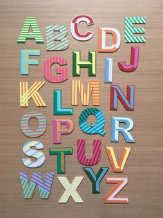 Items similar to Full A-Z Wall Alphabet, Wooden Wall Letters. Handpainted 26 Letters In Total. Mixed Colours and Patterns-Choose To Suit Your Decor on Etsy 26 Letters, Painted Letters, Hand Painted, Seaside Art, Beach Art, Hello Sunshine, Wall Spaces, Cornwall, Color Mixing
