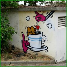 Havre Aplemont photo: Gouzou infuse Graffiti Art, Street Wall Art, Green Street, Street Artists, Banksy, Urban Art, Artsy Fartsy, Illustration, Cool Art