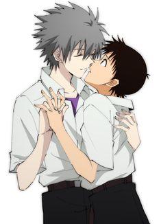 Manga Anime, Anime Couples Manga, Cute Anime Couples, Manga Girl, Anime Girls, Anime Art, Evangelion Kaworu, Neon Genesis Evangelion, Rosario Vampire Anime
