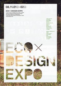 Eco Design Expo Poster by Opus Design Design Expo, Layout Design, Design De Configuration, Book Design, Cover Design, Web Design, Design Art, Graphic Design Posters, Graphic Design Typography