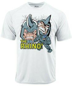 7fb879cbc Rhino Crack Dri Fit graphic Tshirt moisture wicking superhero comic book SPF  tee - Athletic Apparel