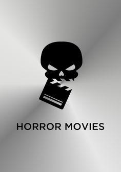 Horror movies - film production company logo design.