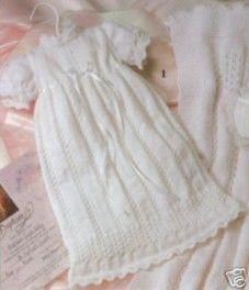 Christening Gown Knitting Crochet Patterns Baby Afghans L... - bidStart (item 30052044 in Everything Else... Baby & Children)