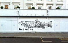 David Hollier street artwork for JOSEPH // Notting Hill Carnival, 2014