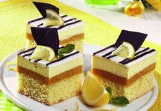 Cake with lemon cream Good Food, Yummy Food, Lemon Cream, Easy Cooking, Food Art, Cheesecake, Sweets, Cookies, Romania