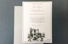 Grey stripe venue illustrated wedding invitation by Appleberry Press Illustrated Wedding Invitations, Unique Wedding Invitations, Wedding Stationery, Beautiful Wedding Venues, Classic Elegance, Wedding Story, Unique Weddings, How To Draw Hands, Castle