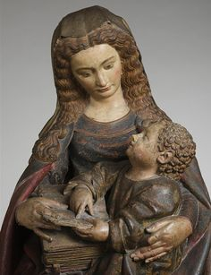 Virgin and Child, ca. 1420  Attributed to Claus de Werve (Franco-Netherlandish, ca. 1380–1439, active in Burgundy, 1396–ca. 1439)  French; Made in Poligny, Burgundy  Limestone, polychromy, gilding.