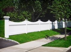 illusions pvc vinyl white picket fence with 8x8 inch post