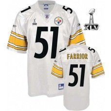 36aa6ae37 Steelers  51 James Farrior White Super Bowl XLV Stitched NFL Jersey World  Cup Jerseys