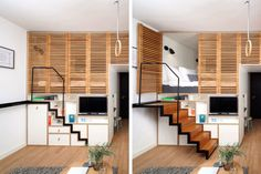 7 Smart Storage Solutions to Steal from Tiny Homes Smart Storage Solutions: 7 Lessons Learned from Tiny Homes: Smart Storage Solutions: Clever Built-ins Tiny House Big Living, Tiny House Plans, Small Living, Tiny House Storage, Smart Storage, Wall Storage, Hidden Storage, Bathroom Storage, Tiny House Appliances