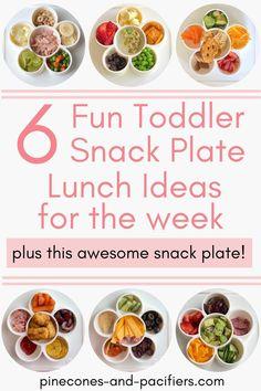 6 snack plate lunch ideaIs for meal time inspiration! Serve your toddler their favorite snacks in this cute snack plate to make lunch time fun and easy. I'm sharing what my toddlers have been eating and 6 fun snack plate meal ideas for the week! Easy Toddler Lunches, Healthy Toddler Meals, Kids Meals, Healthy Snacks, Healthy Recipes, Toddler Food, Delicious Dinner Recipes, Plate Lunch, Lunch Time