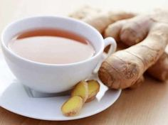 To alleviate an achy throat due to a cold or morning sickness ginger tea is the best and healthiest form of natural treatment. As with many other things homemade, ginger tea is better done at home instead of being bought in the store in the form of tea. Natural Headache Remedies, Natural Health Remedies, Natural Cures, Natural Energy, Natural Treatments, Ayurveda, Health Benefits Of Ginger, Tea Benefits, Homemade Tea