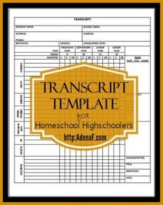Homeschooling High School: Transcripts and Portfolios - AdenaF