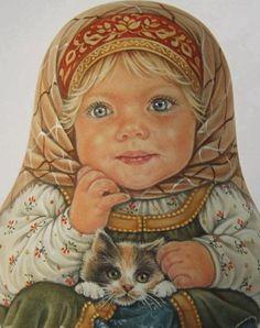 Matryoshka Doll, Kokeshi Dolls, Russian Folk Art, Russian Painting, Easter Art, Gourd Art, Art Pages, Christmas Art, Vintage Pictures