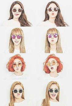 마마무, 솔라, 문별, 화사, 휘인, mamamoo, solar, moonbyul, hwasa, wheein, cartoon effect, wallpaper, sunglasses
