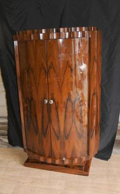 1910s Cabinet In Oak And Elm Burl French Art Nouveau Buffet