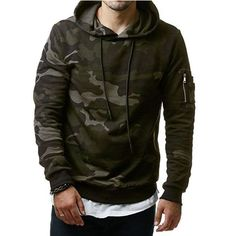 American Military Camo Hoodie For Men //Price: $23.99 & FREE Shipping //