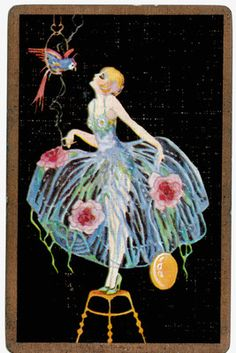 Playing Cards Swap Cards Stunning Vintage Lady Dancer Deco | eBay