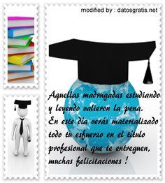 bajar originales mensajes de felicitación por graduación para enviar