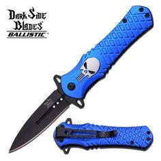 DARK SIDE BLADES BLUE PUNISHER SPRING ASSISTED KNIFE