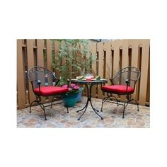 Garden Oasis Patio Set Chairs Cushions Mesh Top Table Relax Grill Metal Balcony