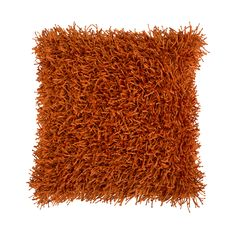 I have one of these; it's one of my favorite pieces in the LRoom. Visitors always have to touch it when they see it.  Shag Pillow in Orange | dotandbo.com