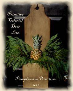 Primitive Colonial Door Box  MadetoOrder by PumpkinvinePrimitive, $65.00
