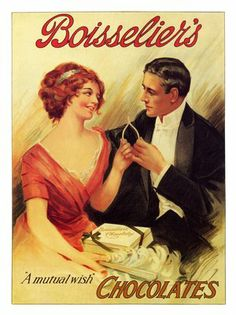 Vintage chocolate poster for Boisselier