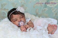 Ethnic Biracial reborn baby doll Cianne by Romie Strydom. Angela Plicka