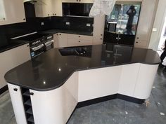 Kitchen of the week… Located in Ware, Herts, showcasing the Nero Stella - Rock and Co Granite Ltd Granite, Corner Desk, Kitchens, Rock, Luxury, Home Decor, Homemade Home Decor, Stone, Corner Table