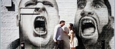 The favourite photographs of Jess and Jimmy pre wedding photography in London's Brick Lane area when Bristol Wedding Photographer came to town London Brick, Brick Lane, Bristol, Prewedding Photo, Graffiti, Wedding Photography, Photoshoot, Artwork, Brick Road
