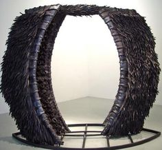 {art} Chakaia Booker. material: recycled tires.