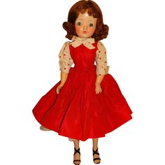 "Madame Alexander Vintage Redhead 20"" Cissy Doll w/#2110 Red Day Dress from toyscoutjunction on Ruby Lane"